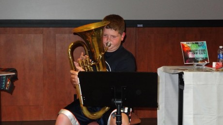 The ever-popular talent show included all ages and a wide variety of talents.